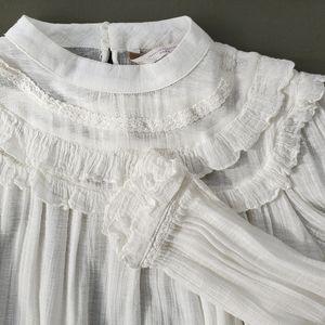 Zara High Neck Victorian Gauzy Top